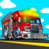 Cool fire truck games for kids : Crazy firefighter driver simulator for little fireboy