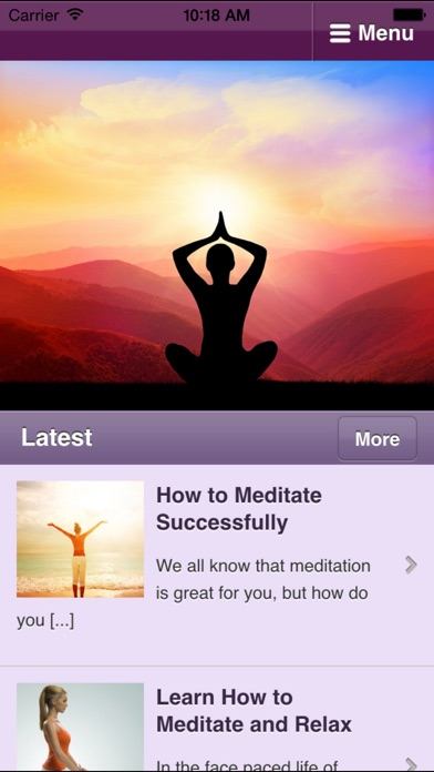 Meditation for Beginners - Learn How to Meditate screenshot one