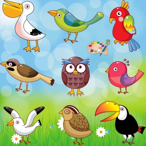 Malvorlagen : Vögel ! - Malbuch - Spiele für Kinder - app für Kinder ...