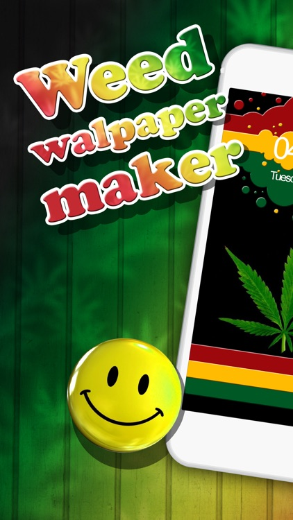 Weed Wallpaper Maker U2013 Free Backgrounds And Ganja Home Screen Pictures For  IPhone