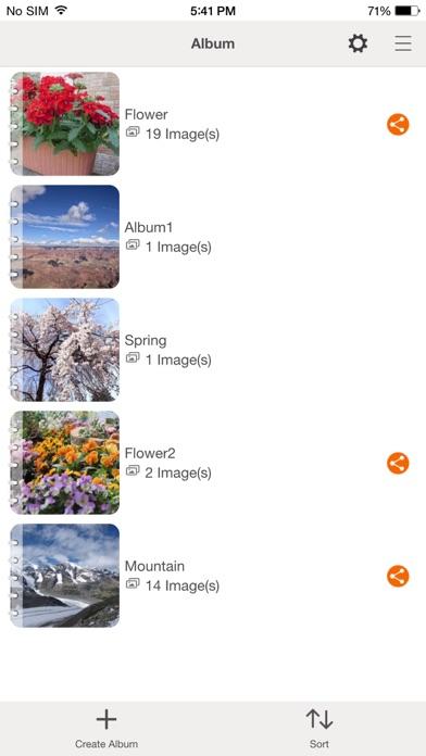 Screenshot of Canon Online Photo Album3