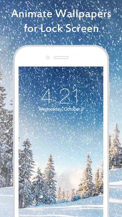 Snowfall live wallpapers animated wallpapers for home for Live wallpaper home screen 6s