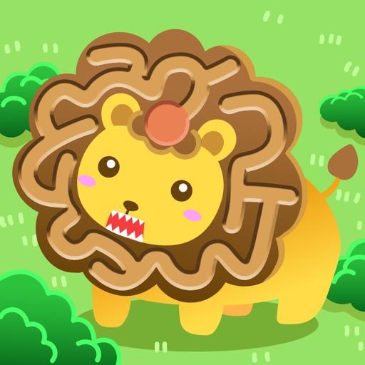 磁石で引っぱる! どうぶつ迷路 - 人気の子供・幼児向けおすすめ知育ゲームアプリ