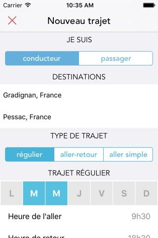 Covyou - Créez votre propre réseau de covoitureurs screenshot 2