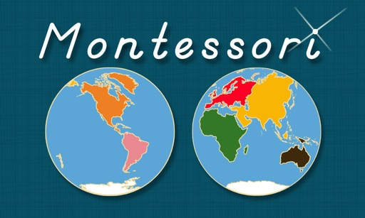 World Continents and Oceans - Geography by Mobile Montessori iOS App