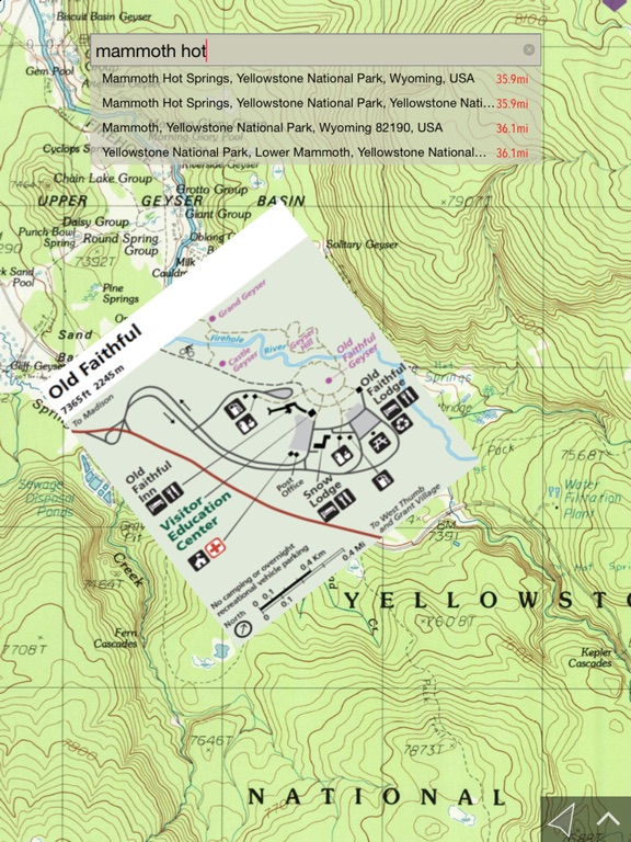 NP Maps Yellowstone On The App Store - Us map yellowstone national park