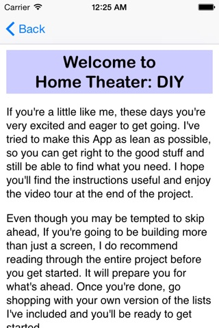 HomeTheaterDIY screenshot 2