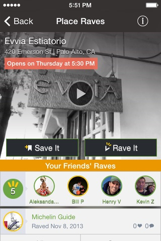 Raved - Guide to Great Restaurants, Bars & Stores Nearby screenshot 1