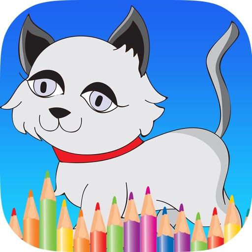 bambini animale libro da colorare: cute cane gatto pittura gattino pony per prescolare