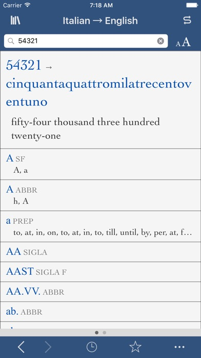 Collins Italian-English Translation Dictionary and Verbs screenshot three