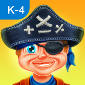 Turbo Math - Pirate Challenge Game: Educational App For Kindergarten, First, Second, Third and Fourth Grade Kids icon