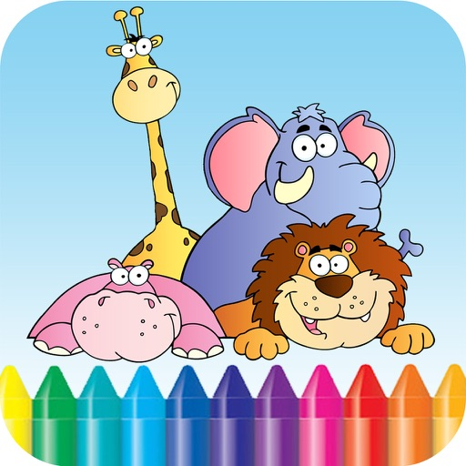 Baby Animals Kids Coloring Book For kindergarten and toddler iOS App