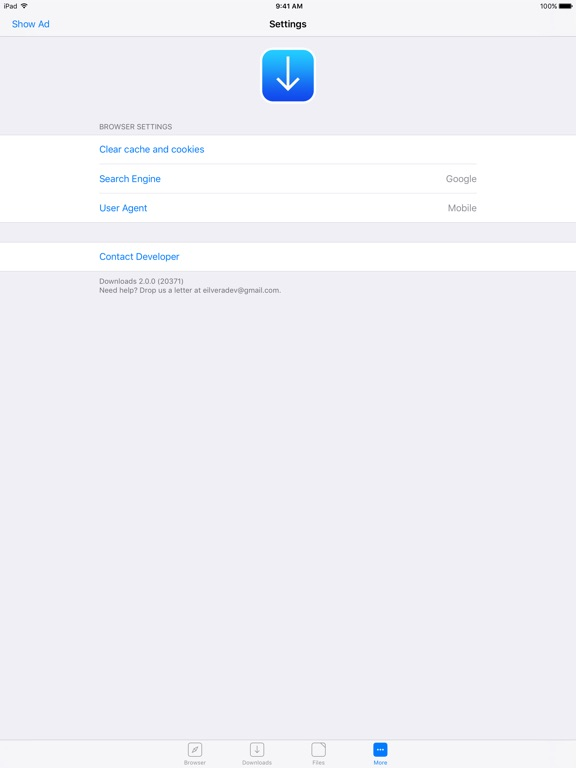 Screenshots of Browser and File Manager for Documents for iPad