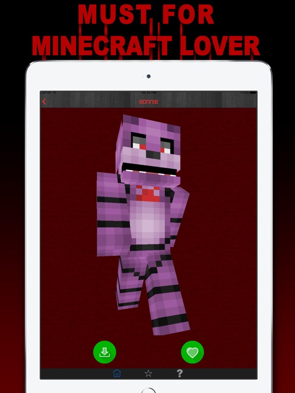 Screenshots of Free Skins for Minecraft PE (Pocket Edition)- Newest Skin for FNAF for iPad