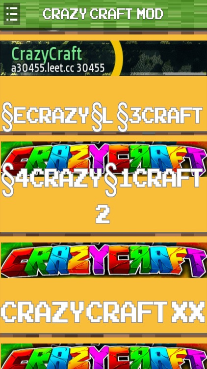 Crazy Craft Servers Mod For Minecraft Pc Edition By Tom Wang