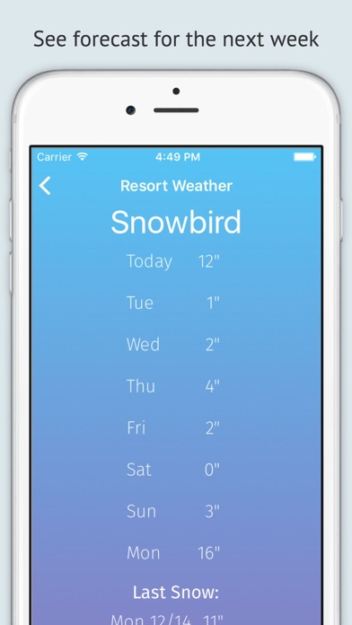 download Powder Fiend - A snow forecast and report tracking app for ski/snowboarding resorts apps 1