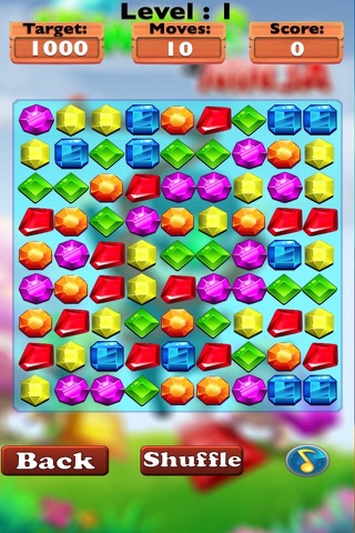 Diamond Jewels Ninja Mania-diamond game and match jewels screenshot 2