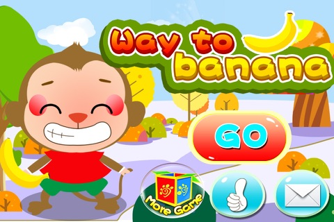 Monkey find the way to bananas (Happy Box) free puzzle games screenshot 1