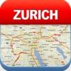 Цюриха Offline карта - города метро Аэропорт