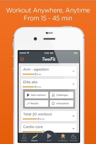 Time Trial Workout - short sharp home workouts screenshot 2