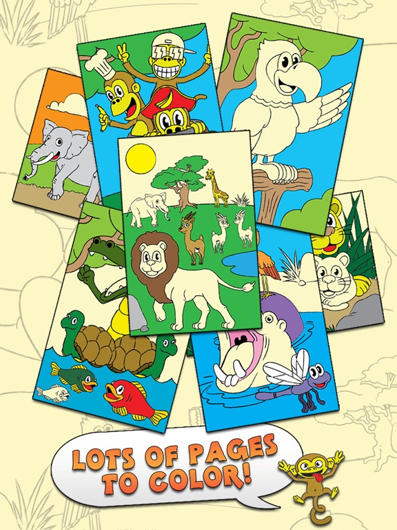 Coloring Animal Zoo Touch To Color Activity Book For Kids