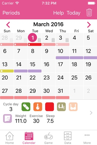 Lady Biz - Period Tracker and Fertility Calendar screenshot 1