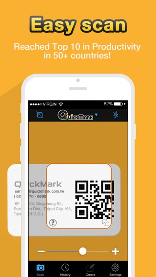 Scan QR Code - QuickMark Barcode Reader Screenshot