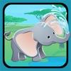 Attivo! Dimensionamento Gioco Per i Bambini di Imparare e Giocare Con Gli Animali Della Giungla