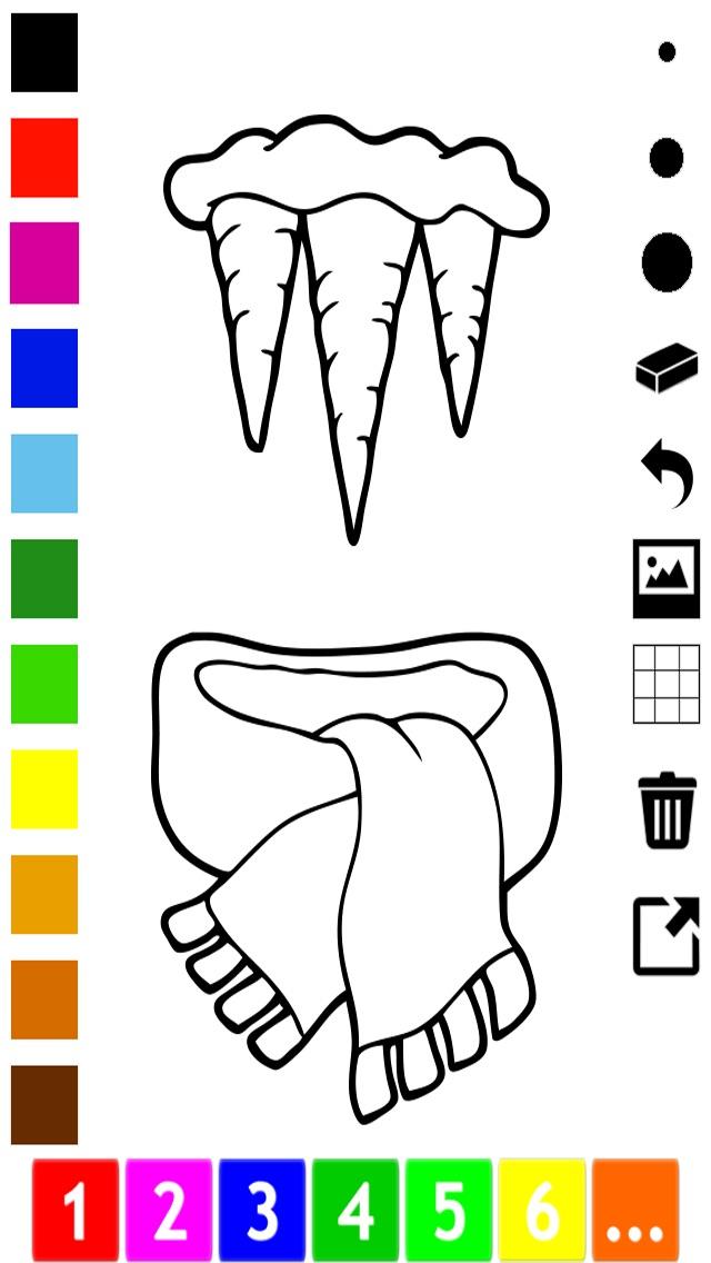 Screenshot of Attivo! Coloring Book Dell'inverno Per i Bambini Per Imparare a Dipingere un Quadro4