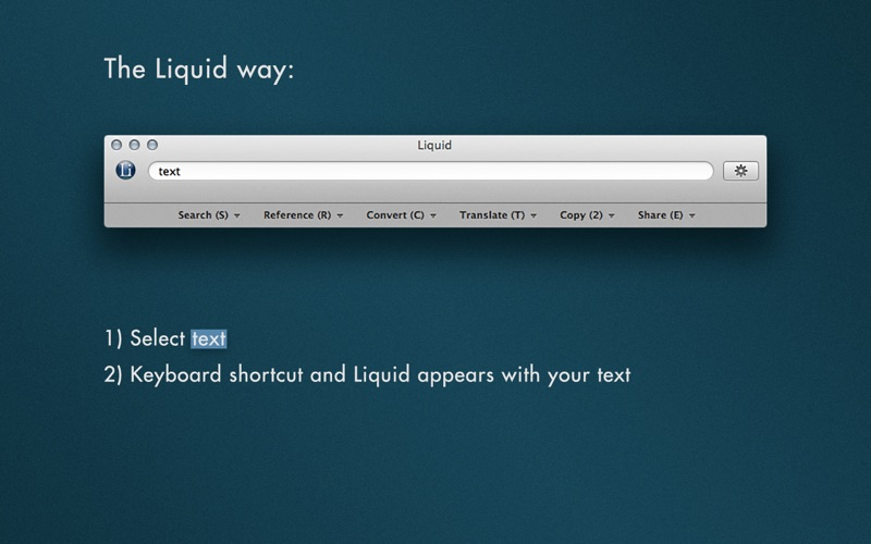 Liquid Screenshots