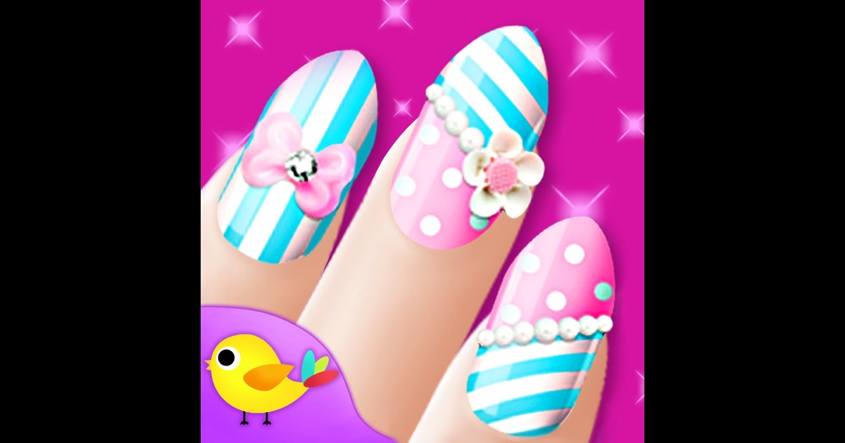 Nail salon girls makeup dressup and makeover games on for A nail salon game