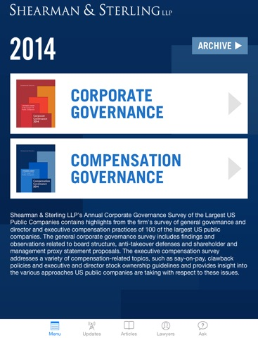 corporate governance executive compensation
