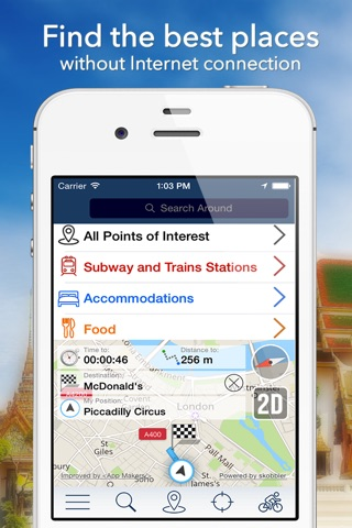 Moscow Offline Map + City Guide Navigator, Attractions and Transports screenshot 2