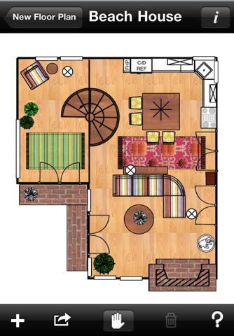 Home Design DIY Interior Room Layout Space Planning & Decorating Tool - Mark On Call for iPhone screenshot 2