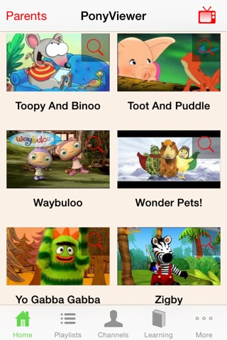 PonyViewer - Kids TV Viewer screenshot 1