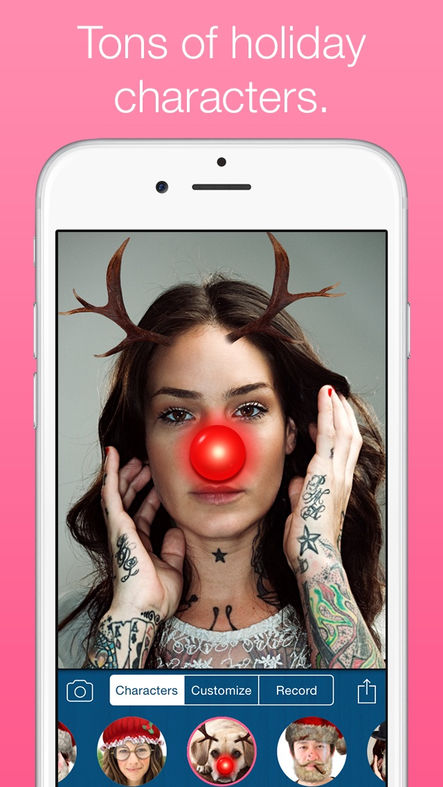 Santify - Make yourself into Santa, Rudolph, Scrooge, St Nick, Mrs. Claus or a Christmas ElfScreenshot of 2