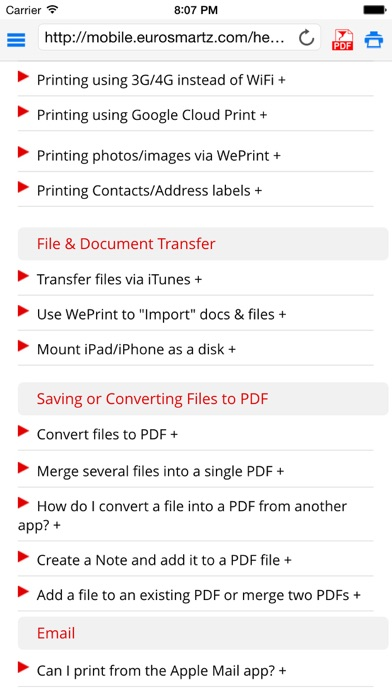 Save2PDF for iPhone Screenshots