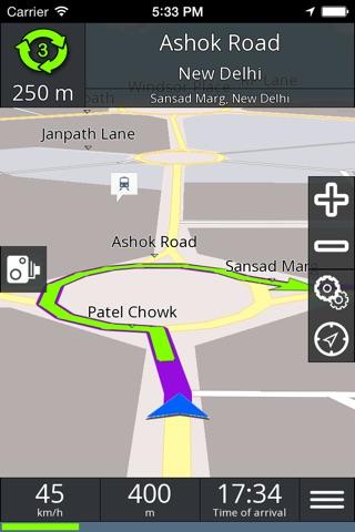 GPS navigation BE-ON-ROAD screenshot 4