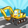Peekaboo kids cars lorries and construction vehicles : Interactive picture book for toddlers with transportation sounds