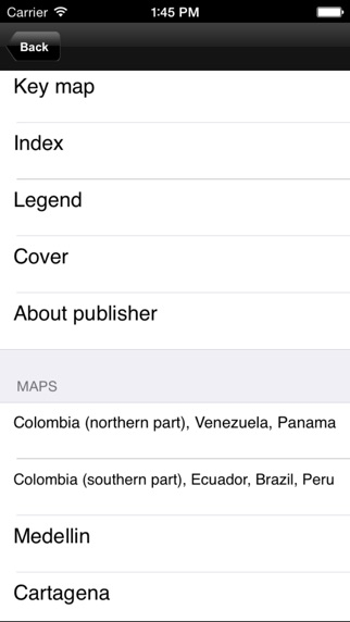 download Colombia, Ecuador. Tourist map. apps 2