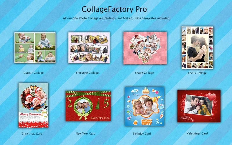CollageFactory Pro Photo Collage Maker Greeting Cards Creator – Birthday Card Collage