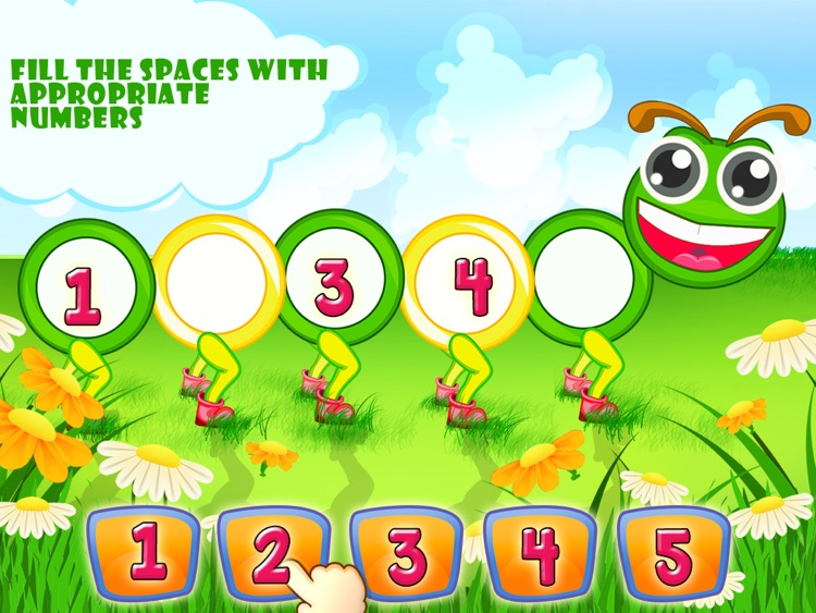 Worksheets Fill Missing Spaces With Numbers 1 -9 wordz club missing numbers hd by klap edutainment screenshot 1