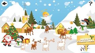 婴儿及儿童学习排序的圣诞动物按大小:教育游戏屏幕截图5