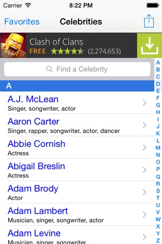 Celebrity Real Names FREE: Guess Celebs Name Game & Look Alike Trivia Quiz! screenshot 1