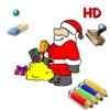 Coloriages de Noël pour les enfants pour iPad avec des crayons de couleurs - 36 dessins à colorier avec le Père Noël, des sapins, des lutins, et plus - GRATUIT