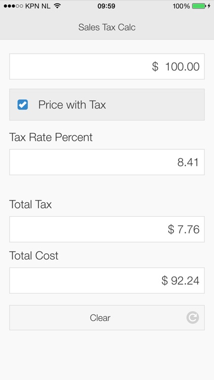 sales tax calculator app screenshot 3