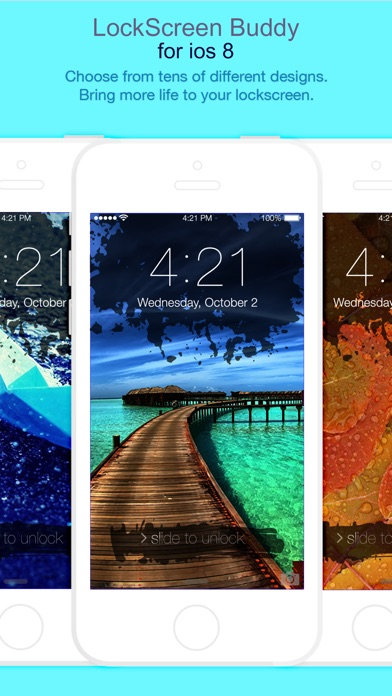 Download LockScreen FancyLock for iOS8 - Pimp your lock screen wallpaper and customize it with new colorful themes and styles App