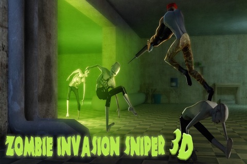 Zombie Invasion Sniper 3D screenshot 1