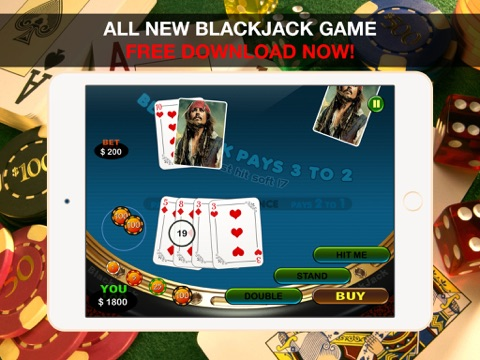 Aarghh! PIRATE BAY BlackJack - Play the Online Monte Carlo Casino Card Game with Real Las Vegas Odds for Free !-ipad-2