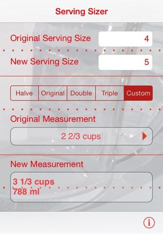 Serving Sizer recipe converter screenshot 1